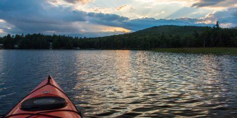 Sunset on Pea Porridge Pond